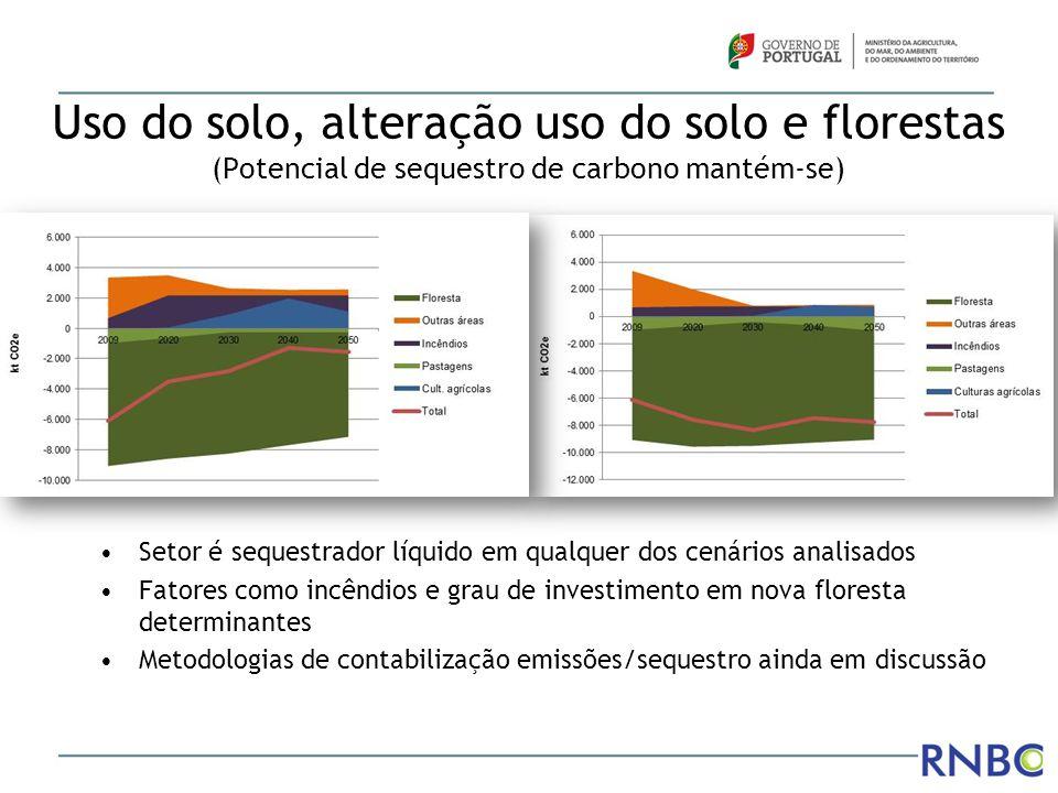 Uso do solo, alteração uso do solo e florestas (Potencial de sequestro de carbono mantém-se)