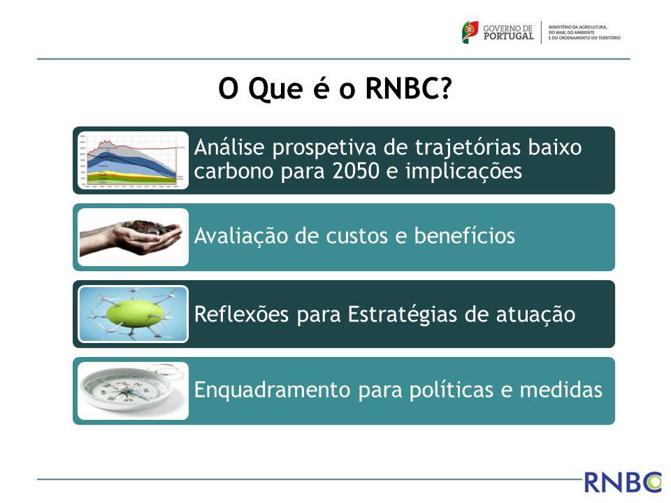 O Que é o RNBC Análise prospetiva de trajetórias baixo carbono para 2050 e implicações. Avaliação de custos e benefícios.