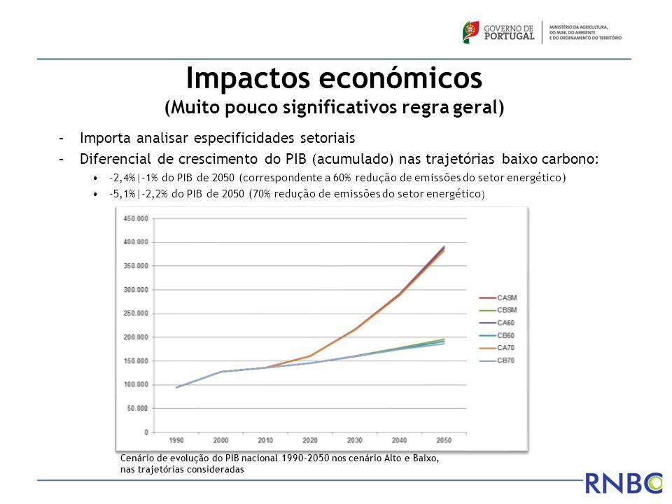 Impactos económicos (Muito pouco significativos regra geral)