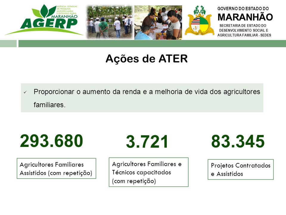 GOVERNO DO ESTADO DO MARANHÃO. SECRETARIA DE ESTADO DO. DESENVOLVIMENTO SOCIAL E. AGRICULTURA FAMILIAR - SEDES.