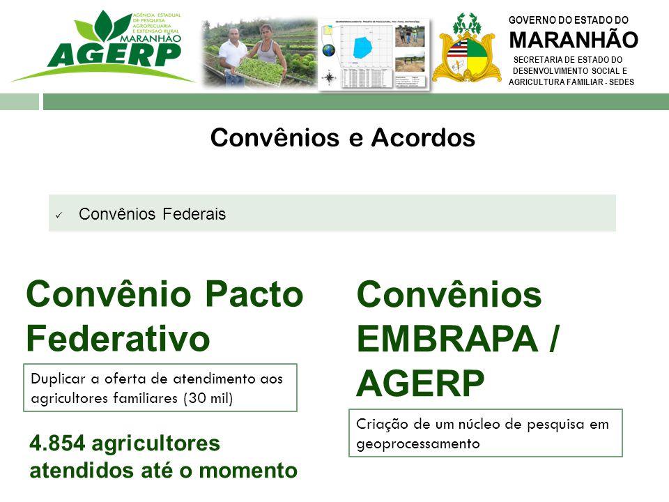 Convênios EMBRAPA / AGERP