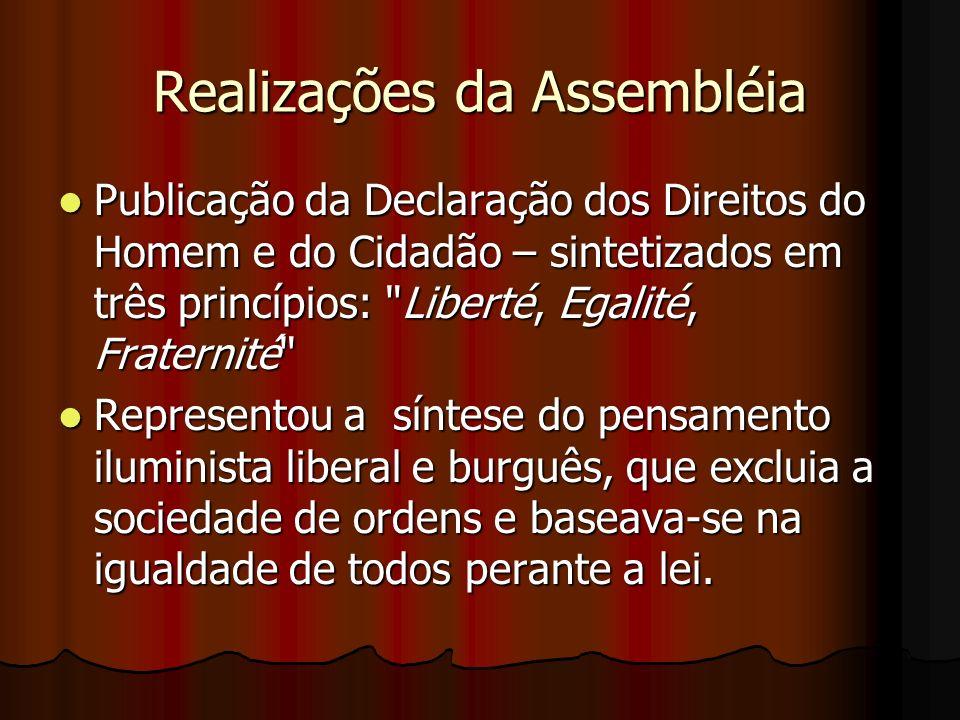 Realizações da Assembléia