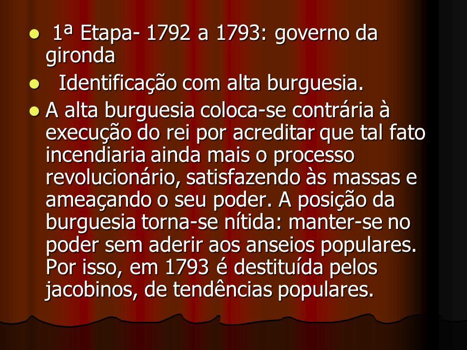 1ª Etapa- 1792 a 1793: governo da gironda