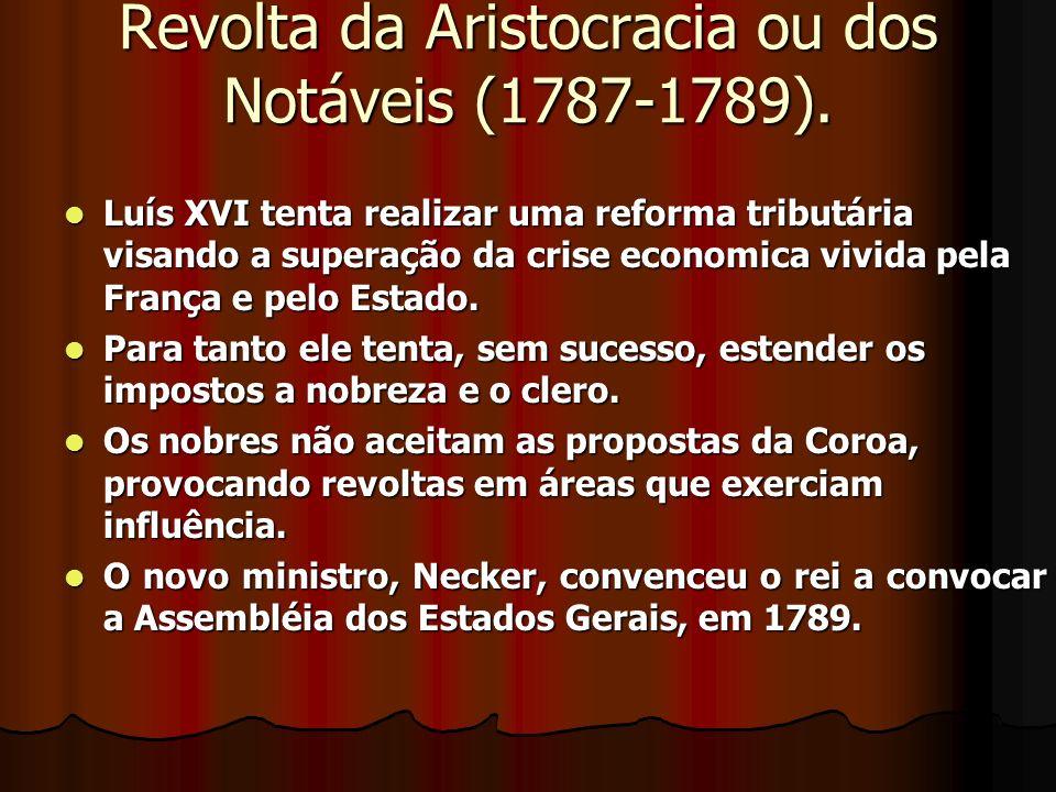 Revolta da Aristocracia ou dos Notáveis (1787-1789).