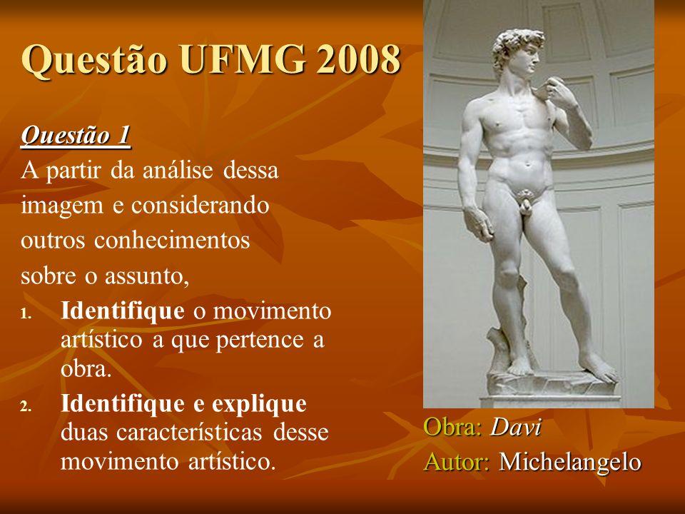 Questão UFMG 2008 Questão 1 A partir da análise dessa