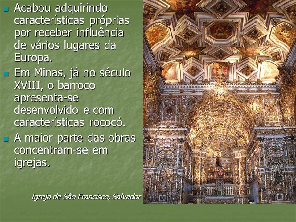 A maior parte das obras concentram-se em igrejas.
