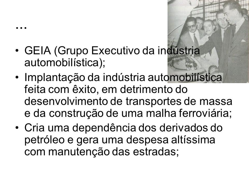 ... GEIA (Grupo Executivo da indústria automobilística);