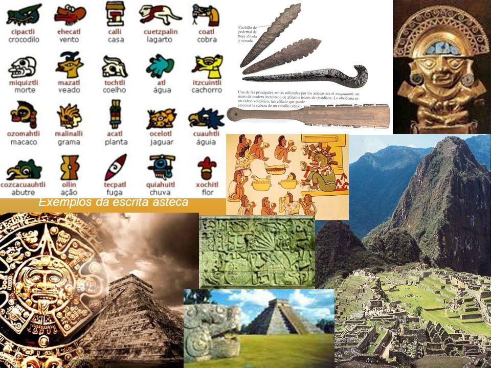 Exemplos da escrita asteca