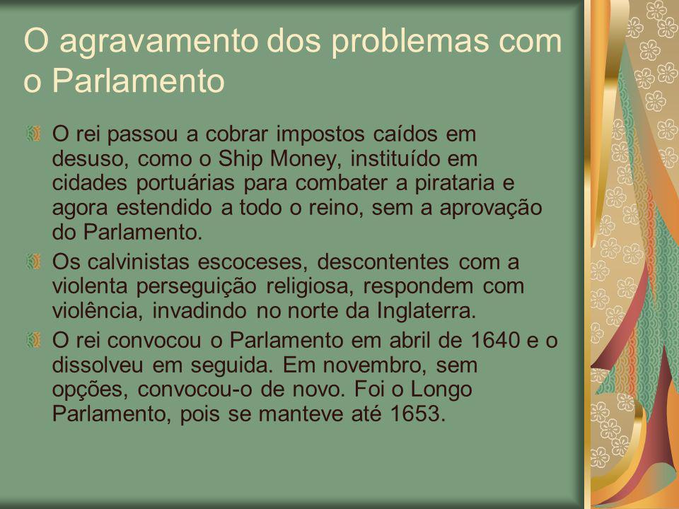O agravamento dos problemas com o Parlamento