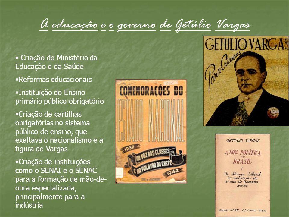 A educação e o governo de Getúlio Vargas