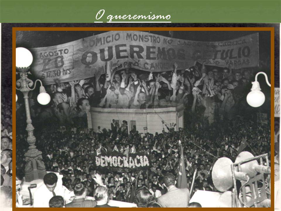O queremismo Iniciativa promovida pelos círculos trabalhistas ligados a Getúlio, com o apoio dos comunistas.