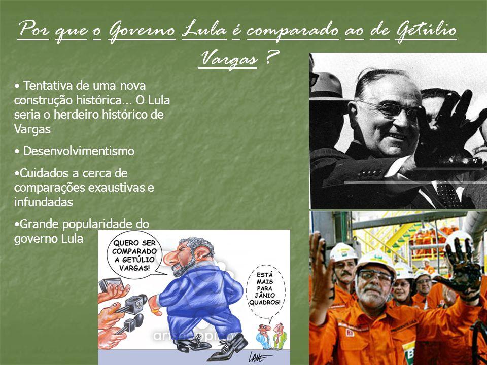 Por que o Governo Lula é comparado ao de Getúlio Vargas