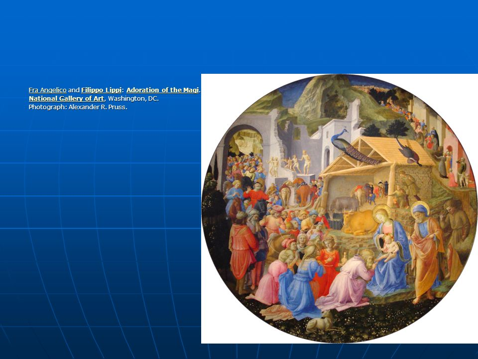 Fra Angelico and Filippo Lippi: Adoration of the Magi.