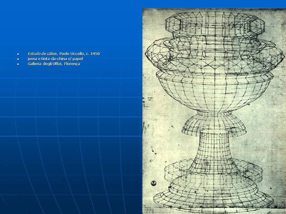 Estudo de cálice, Paolo Uccello, c. 1450