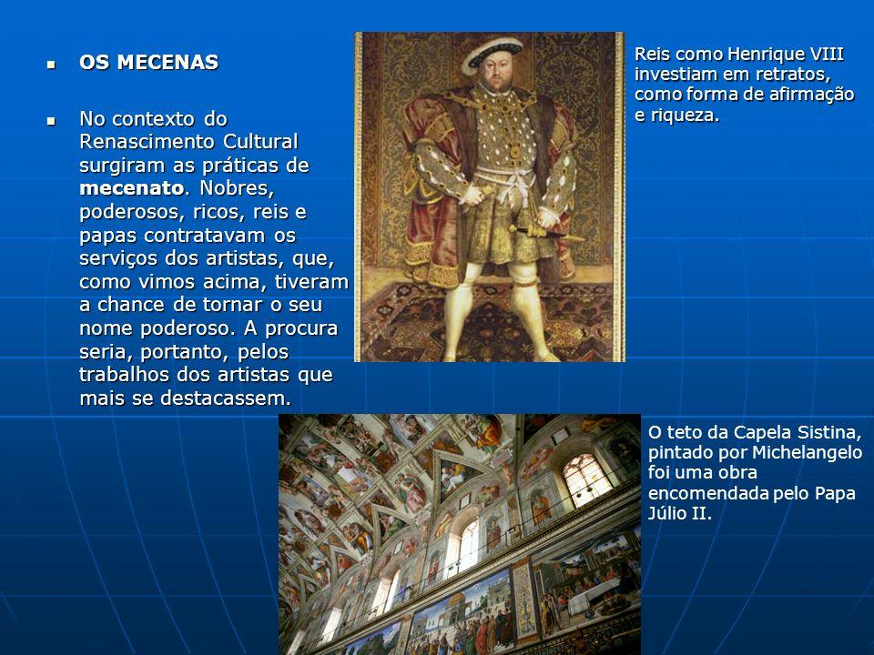 Reis como Henrique VIII investiam em retratos, como forma de afirmação e riqueza.
