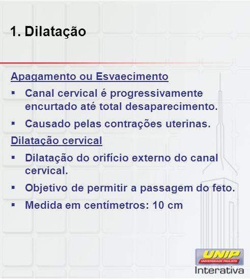 1. Dilatação Apagamento ou Esvaecimento