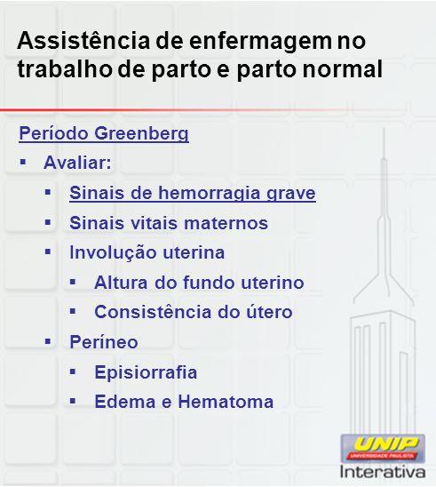 Assistência de enfermagem no trabalho de parto e parto normal