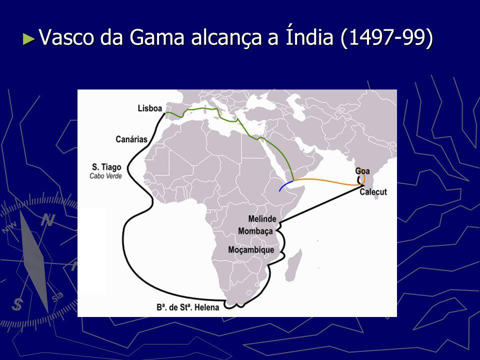 Vasco da Gama alcança a Índia (1497-99)