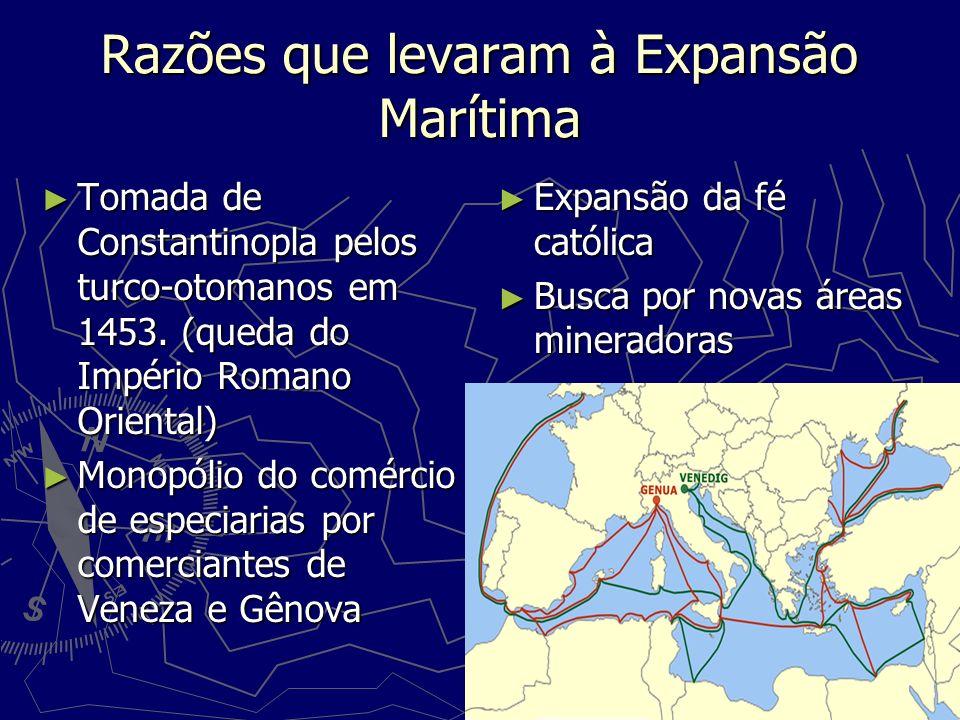 Razões que levaram à Expansão Marítima