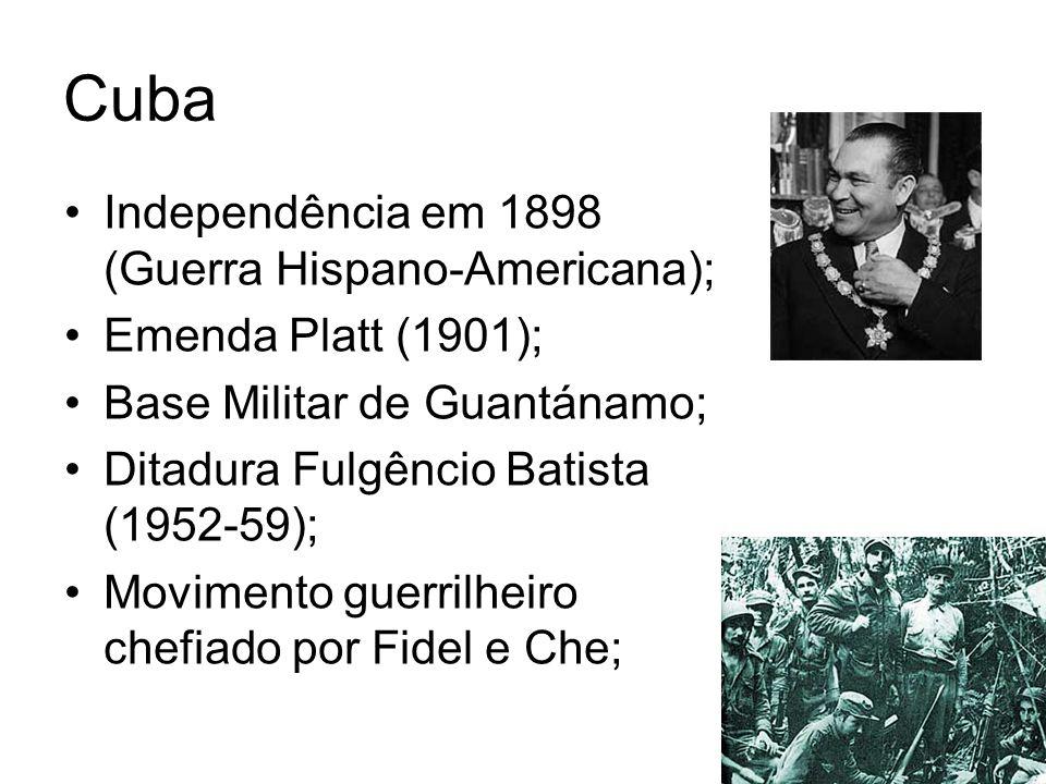 Cuba Independência em 1898 (Guerra Hispano-Americana);