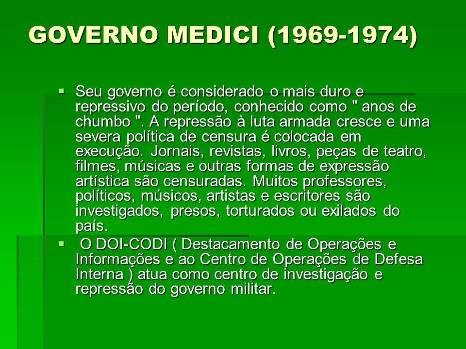 GOVERNO MEDICI (1969-1974)