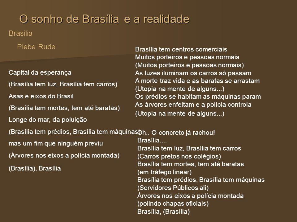 O sonho de Brasília e a realidade