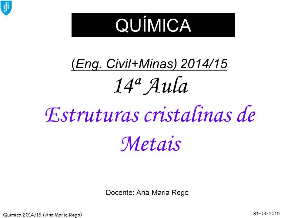 Estruturas cristalinas de Metais