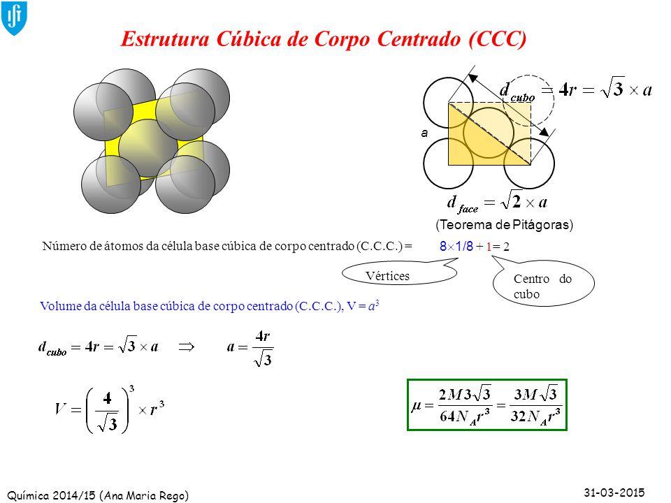 Estrutura Cúbica de Corpo Centrado (CCC)