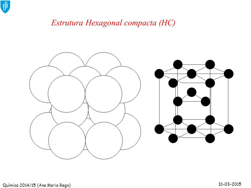 Estrutura Hexagonal compacta (HC)