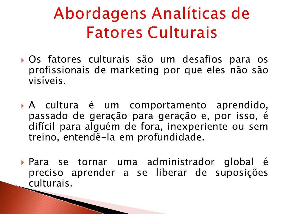 Abordagens Analíticas de Fatores Culturais
