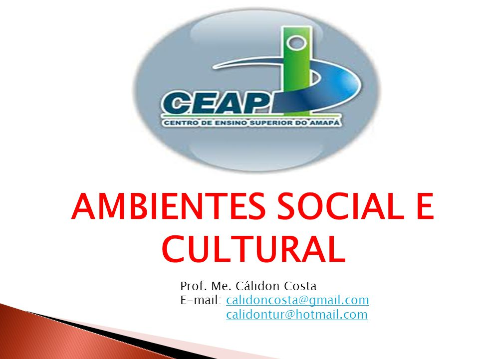 AMBIENTES SOCIAL E CULTURAL