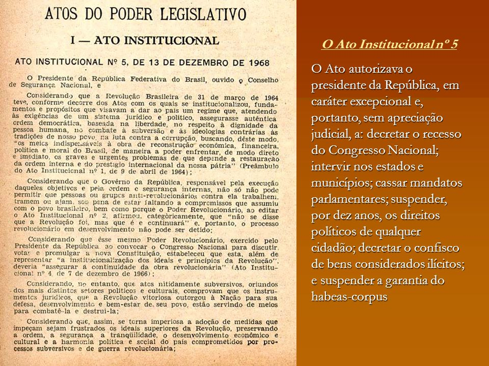O Ato Institucional nº 5