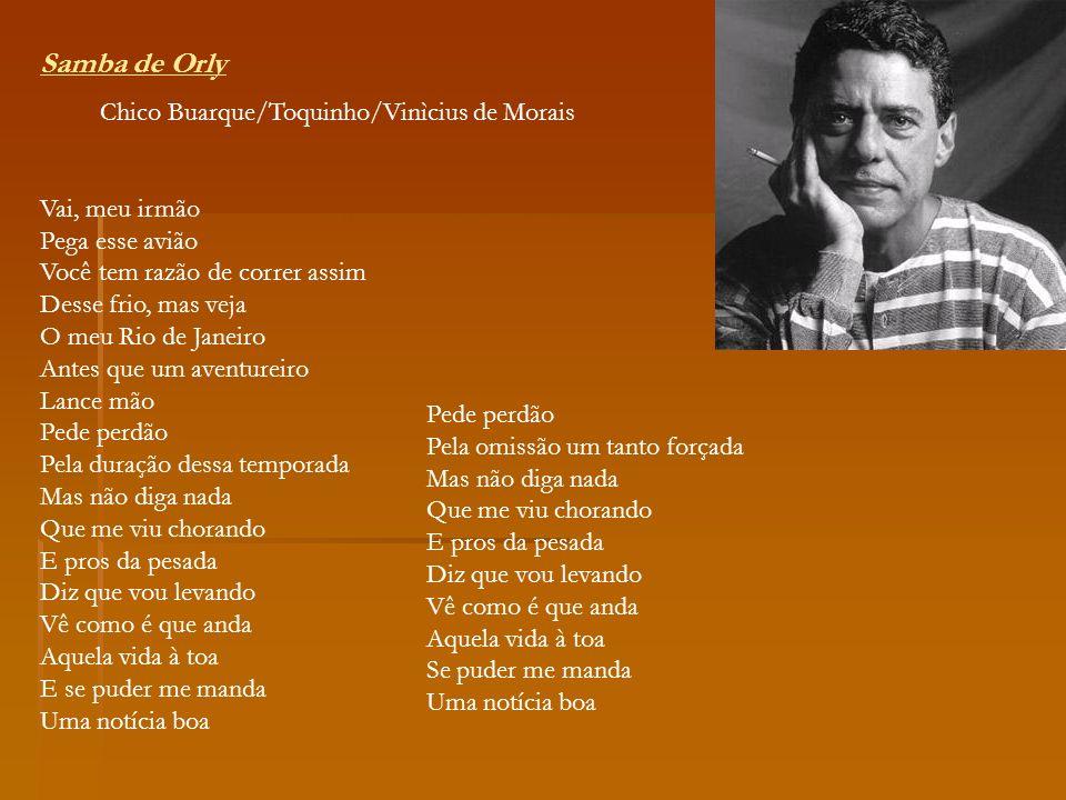 Samba de Orly Chico Buarque/Toquinho/Vinìcius de Morais
