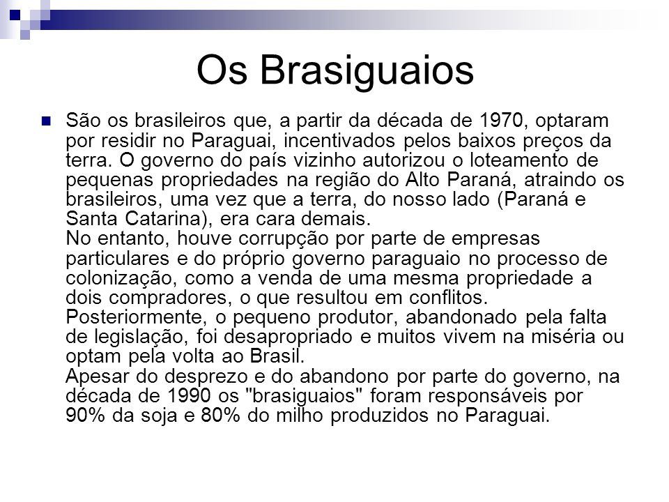 Os Brasiguaios