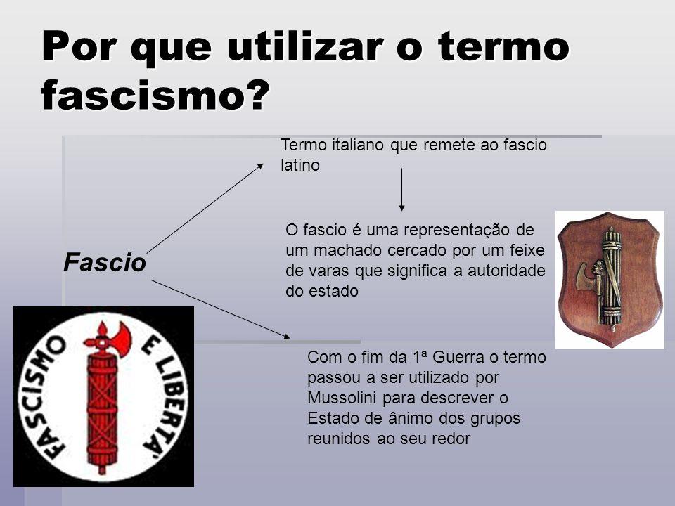 Por que utilizar o termo fascismo