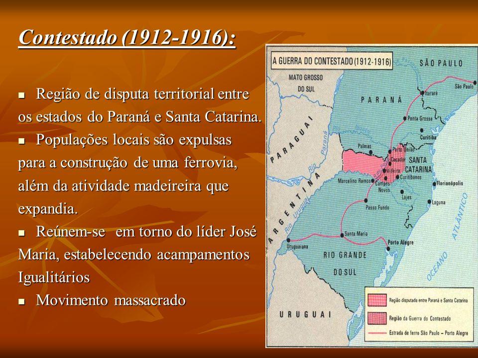 Contestado (1912-1916): Região de disputa territorial entre