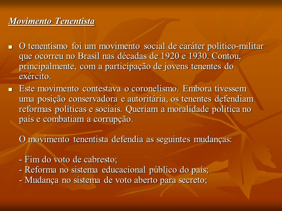 Movimento Tenentista