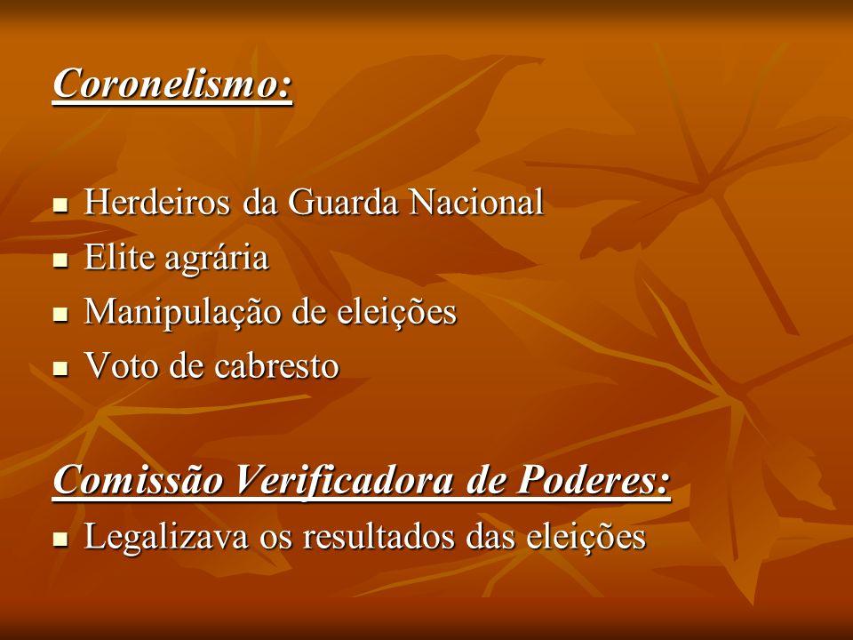 Comissão Verificadora de Poderes: