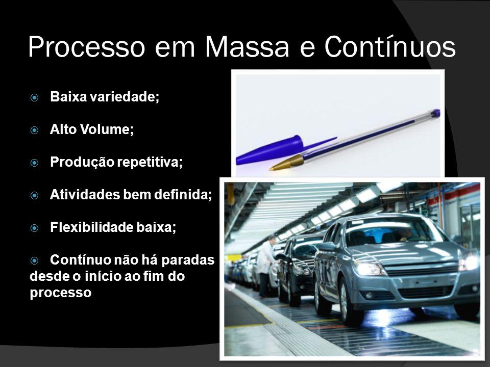Processo em Massa e Contínuos