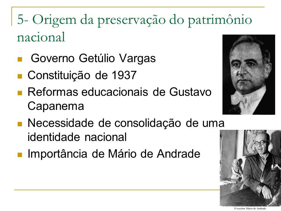 5- Origem da preservação do patrimônio nacional