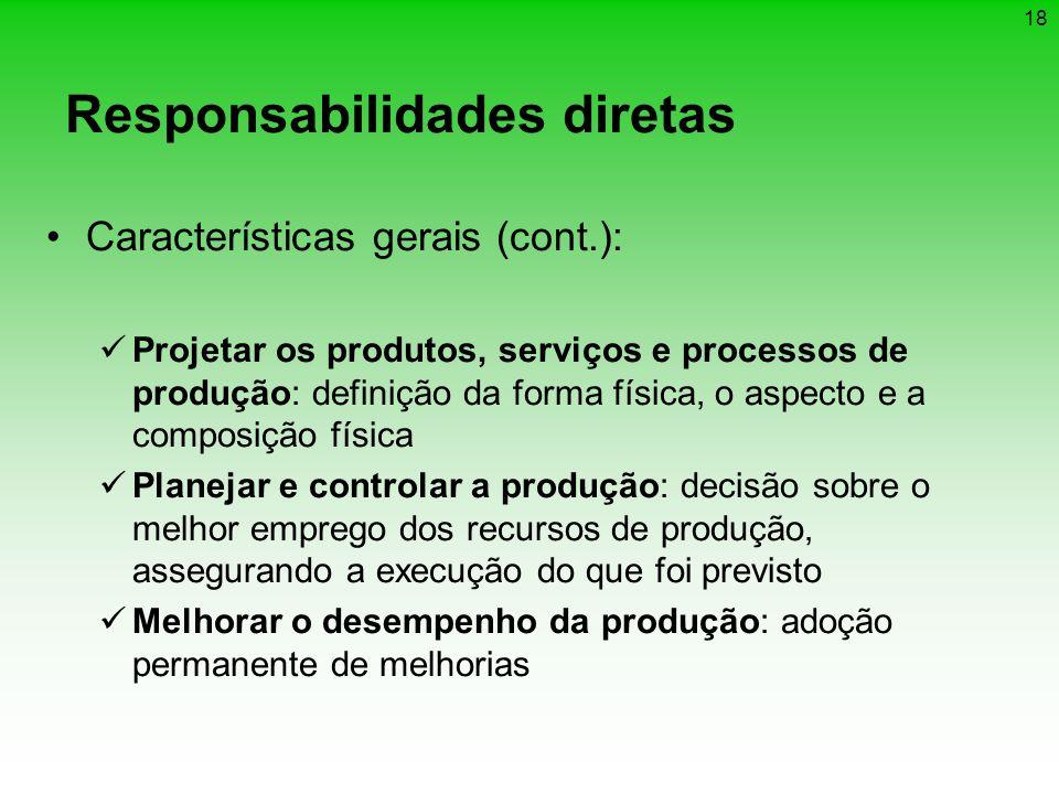 Responsabilidades diretas