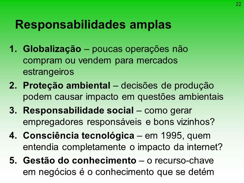 Responsabilidades amplas