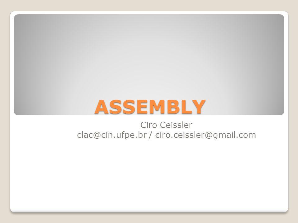 Ciro Ceissler clac@cin.ufpe.br / ciro.ceissler@gmail.com