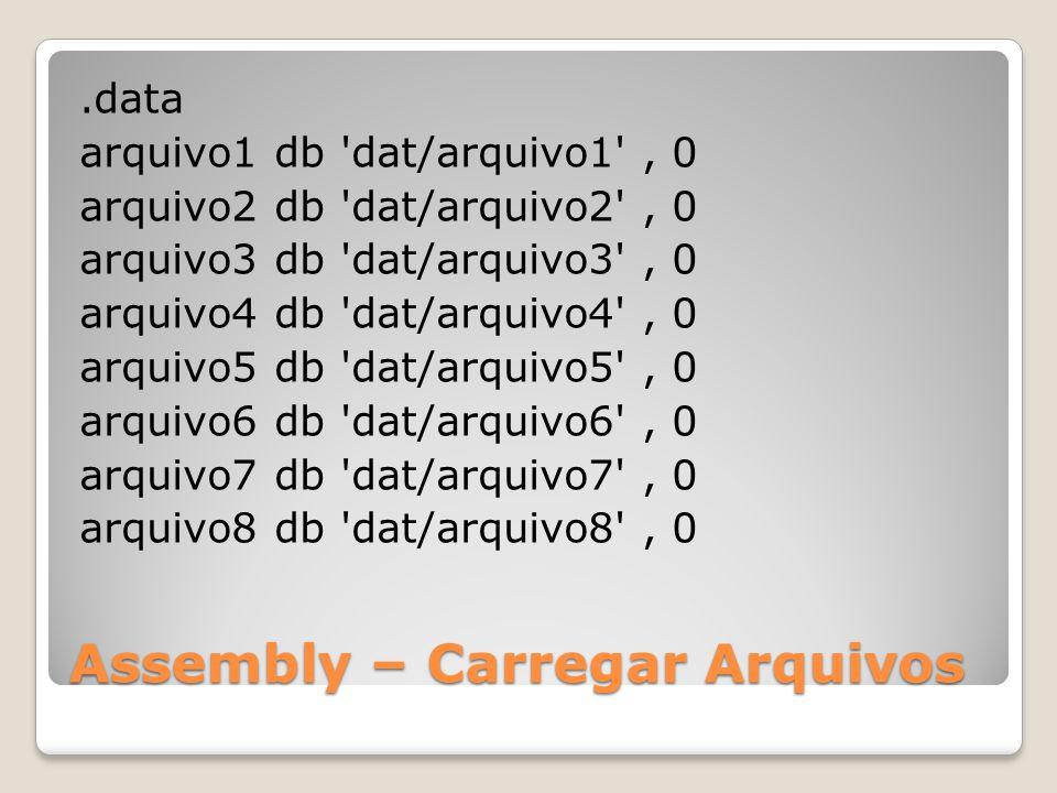 Assembly – Carregar Arquivos