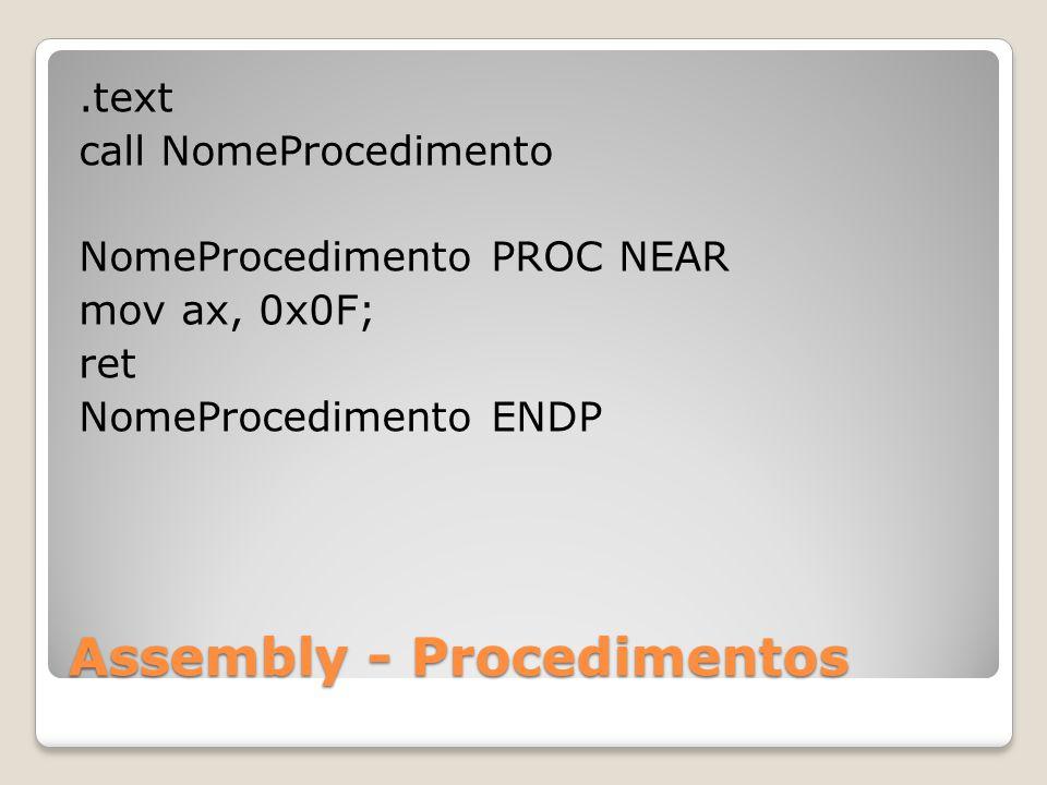 Assembly - Procedimentos