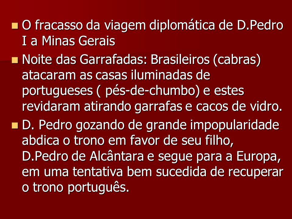 O fracasso da viagem diplomática de D.Pedro I a Minas Gerais