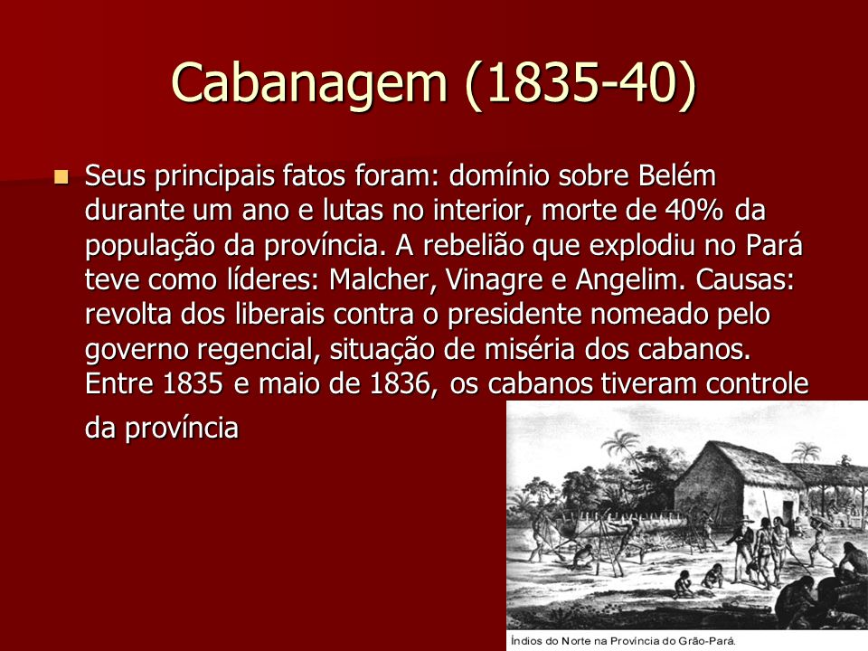 Cabanagem (1835-40)