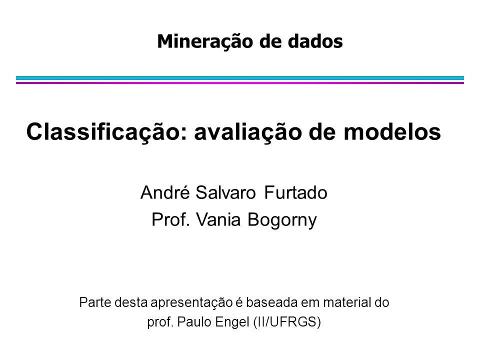 Classificação: avaliação de modelos