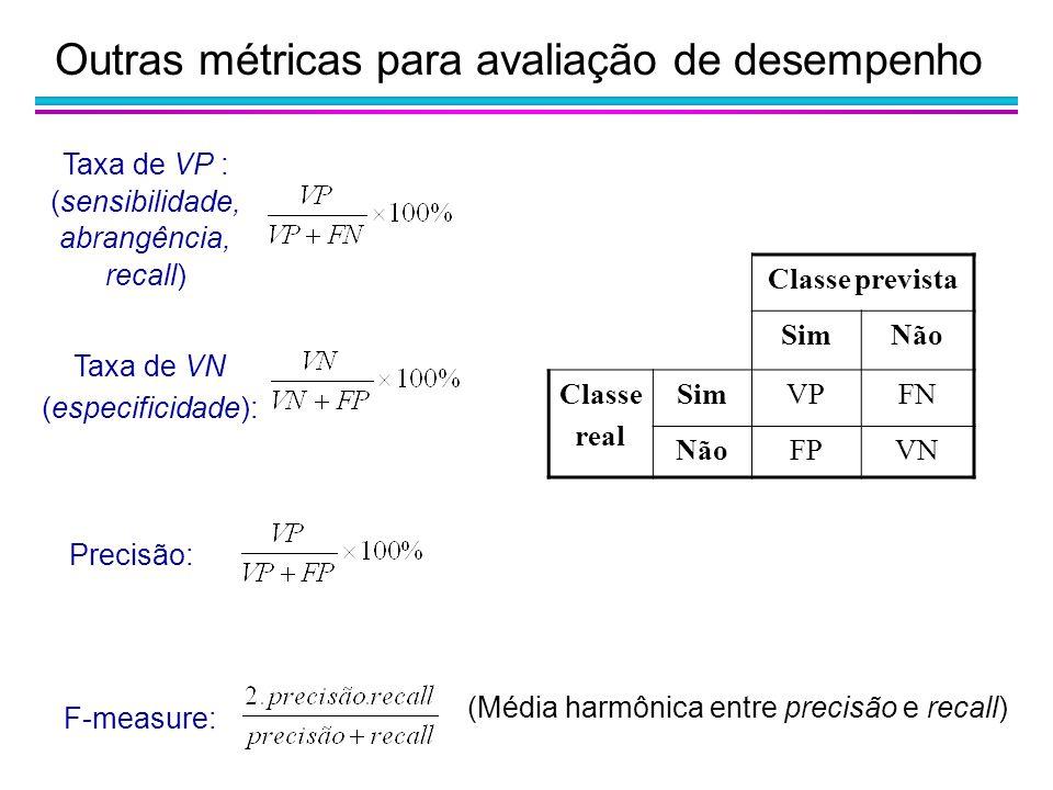 Outras métricas para avaliação de desempenho