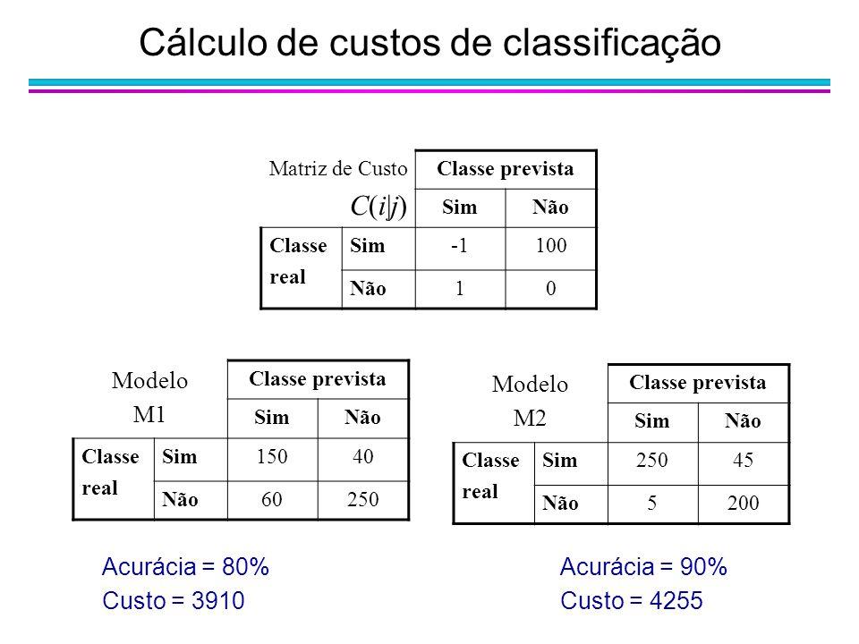Cálculo de custos de classificação